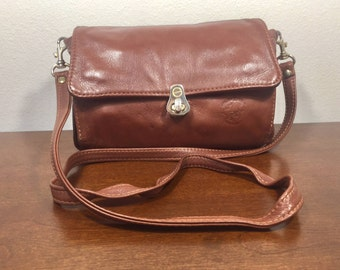 Brown Leather Wallet Purse,Shoulder Bag, Organizer Bag