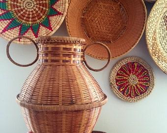 Wicker Urn Style Vase