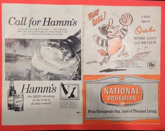 ULTRA rare, ORIGINAL, 1960 Hamms AND Orioles Advertising Prints