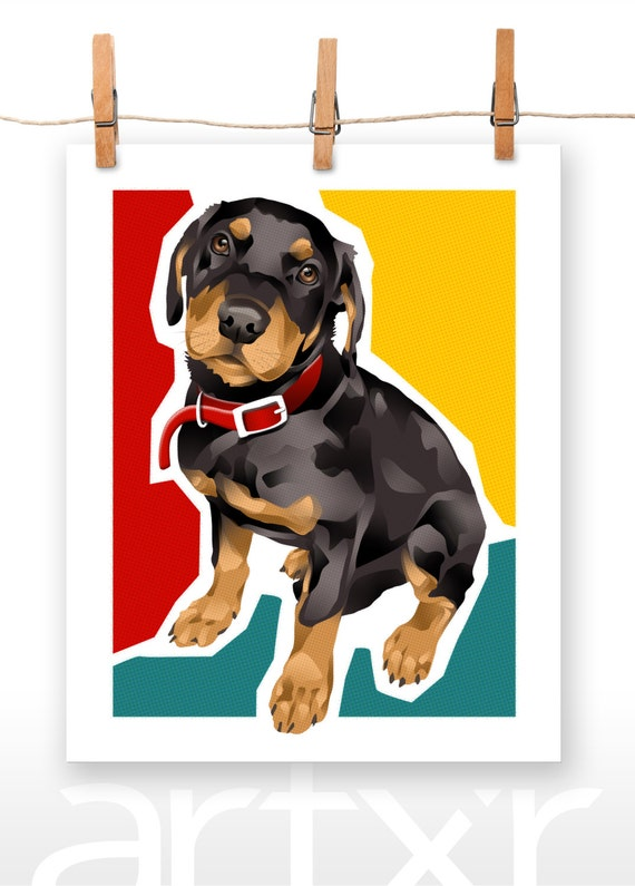 ROTTIE / The PET PROJECT / Rottweiler Puppy / Fine Art Print / Various Sizes