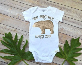 Big Brother Shirt, Big Brother Bear, Baby Announcement, Pregnancy Reveal, Future Brother, Cute Baby Clothes, Big Brother Reveal, Brother set