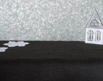Black Linen Tablecloth. Natural Linen Tablecloth. Solid Black Linen Fabric. Extra Long Tablecloth 54x 120