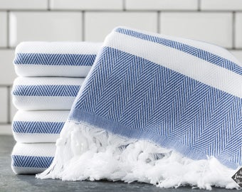 Spa Towel, Cotton Turkish Towel, Denim, Bath Towel, Sauna Towel, Beach Towel, Peshtemal