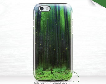 Green Forest iPhone 6 Case Spring, iPhone 6s Case, iPhone 7 Case 3D, fireflies iPhone 7Plus Case iPhone 5s Case, Galaxy S7 Tough Case 15i
