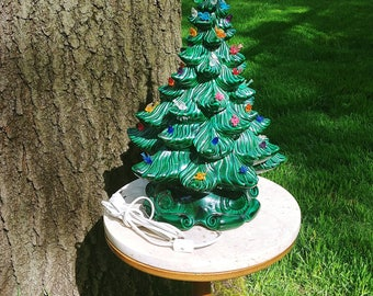 "Vintage 16"" Musical Ceramic Christmas Tree"