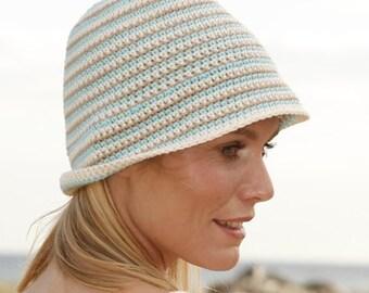 Beach hat Summer hat Sun hat Womens hat Floppy hat Spring hat Crochet hat Bucket hat Cotton hat Brim hat Chemo hat Derby hat