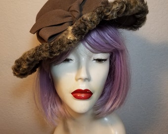 FREE  SHIPPING  1940 Curly Lamb Hat