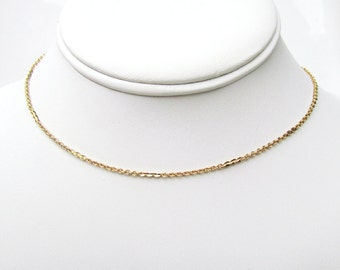 Gold Bauble Choker / Curb Chain / Gold Plated / Plain Chain Choker / Stacking Necklace / Thick Chain / Layering Necklace