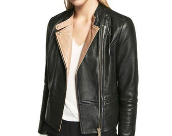 Leather jacket, leather jacket women, leather jacket for women, biker leather jacket, biker jacket, womens leather jacket, women jacket