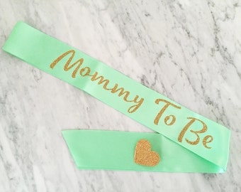 mommy to be sash, baby shower sash, MANY Colors, can be personalized anyway