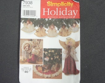 UNCUT Simplicity 7938 HOLIDAY PATTERN Collection for Angelic Decor by Shirley Botsford Designs 1997