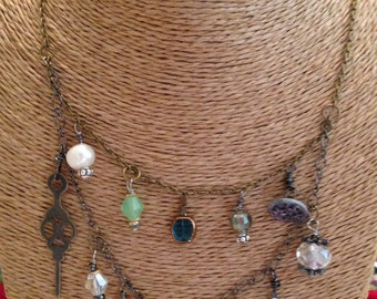 Double Strand Seaglass Necklace