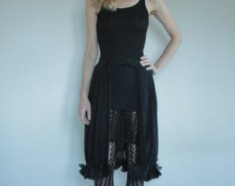 On hold please do not purchase 60's burlesque sheer black silk plisse half skirt