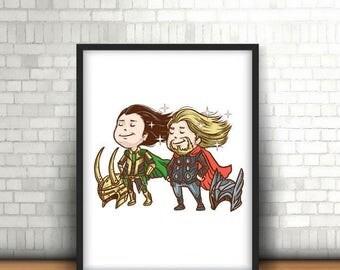 Loki and Thor Stylish