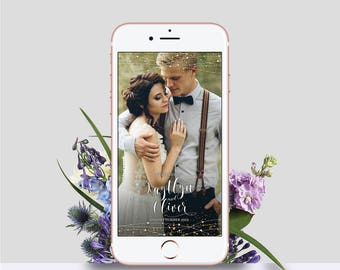 WOW YOUR GUESTS! Wedding Snapchat Filter|Snapchat Filter|Custom Wedding Geofilter|Wedding Geofilter|Glitter Wedding Snapchat Filter|Personal