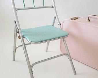 Child's Vintage Aluminum and Vinyl Chair