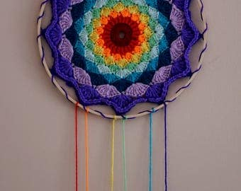 Rainbow Mandala Wall Hanging