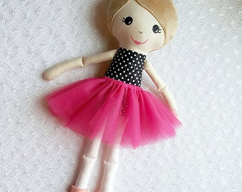 Ballerina Doll - Dancer Doll - Nutcracker Doll - Christmas gifts for girls - Dance Gifts - Personalized Gift Ideas - Handmade Toy