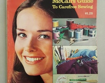 THE ANSWER BOOK // Vintage 70's McCall's Guide To Carefree Sewing Book How To