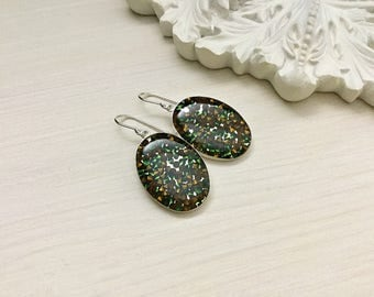 Sterling Silver Resin Earrings