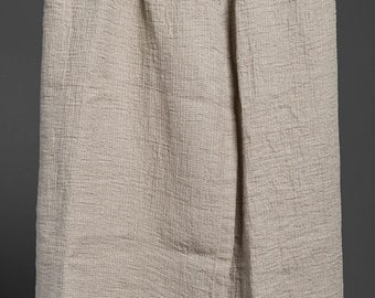 Gray linen bathroom towel, surrounded towel with button, pure linen towel, sauna towel, flax towel, eco friendly towel, sauna bathroom towel