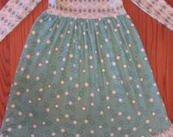 Girls nightgown/girls knit nightgown/organic knit/girls organic nightgown/girls long nightgown/girls pajamas/girls gown/toddler nightgown