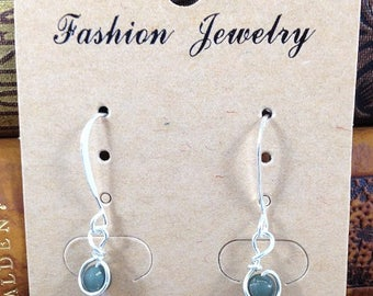 Over the Moonstone Drop Earrings