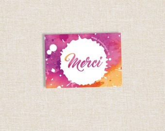"Stickerset ""Merci"" 