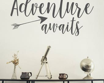 Wall Decal, Adventure awaits, Wanderlust Decal, Adventure Stickers, Home Wall Stickers, Wanderlust, Wall stickers, Wall Decals, Adventure