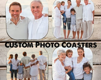 PHOTO COASTERS - custom coasters - personalized coasters - custom photo coasters - coaster - drink coasters - Mother's Day, Father's Day