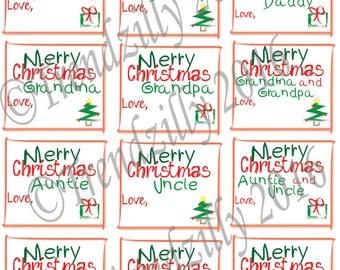 Christmas Gift Tags, Kid Gift Tags, Christmas Gift Tags for Kids, Christmas Gift Label, Childrens Christmas Decoration Printable Download.