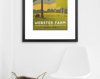 FRAMED New England Poster - Customize print text