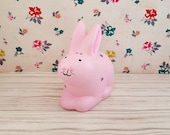 Pink Bunny Piggy Bank, Bunny Piggy Bank, Piggy Bank with Flowers, Baby Piggy Bank, Baby Bank, Bunny Bank, Rabbit Bank, Pink Piggy Bank
