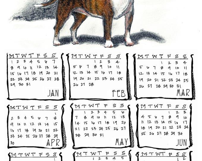 Bull Terrier 2018 yearly calendar