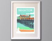 Brighton Palace Pier, Brighton, East Sussex – A3 Limited Edition Screen Print - Unframed or Framed