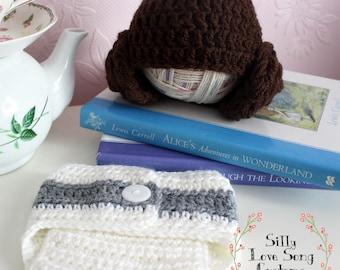 Princess Leia Hat & Diaper Cover Set for Newborn - Star Wars - Photos - Photographers Stash - Coming Home