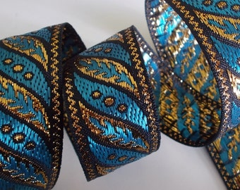 "Jacquard Ribbon Trim | 1"" Inch Woven Jacquard Ribbon 