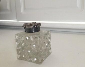 Antique art nouveau vanity jar, vintage 1900s
