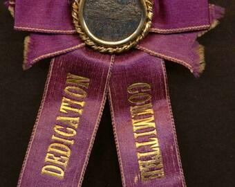 C. 1900 Dedication Commitee of Boston Ribbon & Medallion