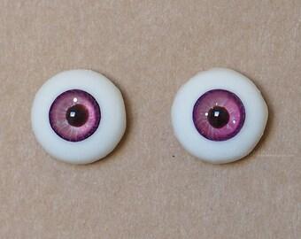 14mm Moonteahouse (Mth) Eyes - Handmade Purple Resin Eyes for BJD, ABJD and Dolls [17051]