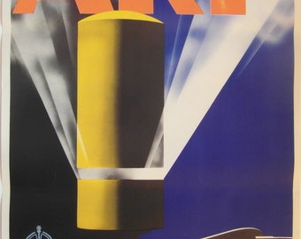 Original 1938 WW2 Home Office Air Raid Precaution Poster by Pat Keeley