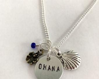 "Lilo & Stitch Inspired Necklace - ""Ohana"""