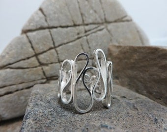 Fancy sterling silver ring