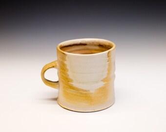Wood Fired Porcelain Mug - Shino Liner Glaze, 0525002