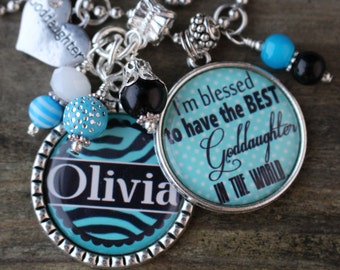 PERSONALIZED GODDAUGHTER GIFT,  Personalized Goddaughter Key Chain, Personalized Goddaughter Gift, Personalized God Daughter Key Chain