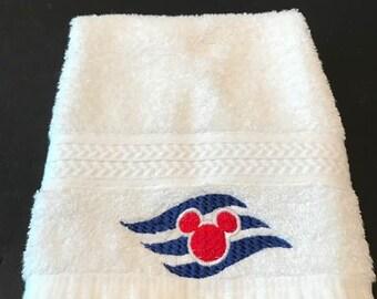 Disney Cruise Logo Embroidered Washcloth