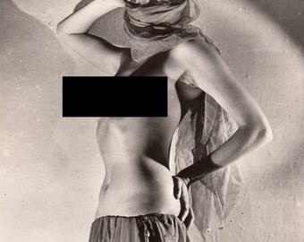 Vintage 1950 Original Nude Photography . Erotic phography. Nude Art.