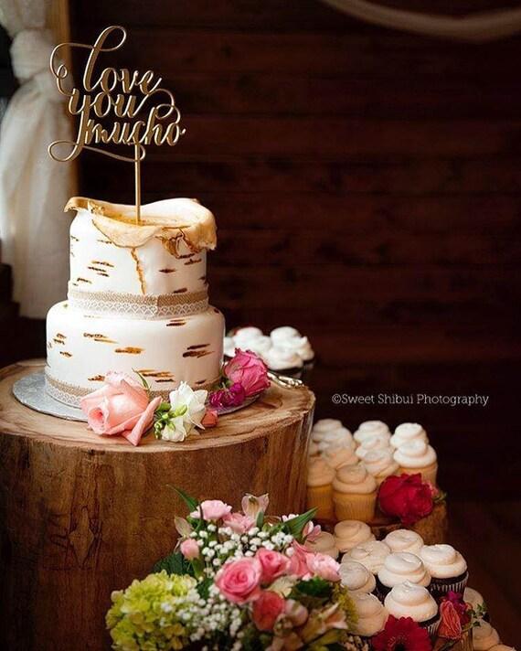 Love You Mucho Cake Topper, Love You Mucho, Wedding Cake Topper, Engagement Cake Topper, Bridal Shower Cake Topper, Anniversary Cake Topper