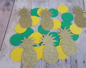 225 Pineapple Confetti, Pineapple Party Decorations, Tropical Party Decorations, Pineapple Bridal Shower, Pineapple Birthday, Gold Confetti