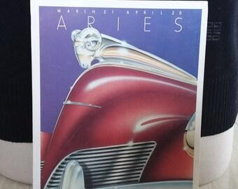 Vintage Aries Birthday Card Zodiac Ram Pros and Cons Portal Publications